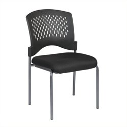 Scranton & Co Guest Chair with Padded Seat in Coal