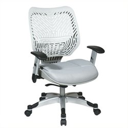 Scranton & Co Office Chair with Shadow Mesh Seat in Ice