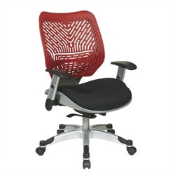 Scranton & Co Office Chair with Black Mesh Seat in Red