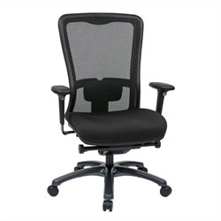 Scranton & Co High Back Office Chair with Leather Seat in Black