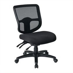 Scranton & Co Ergonomic Task Office Chair with Grid Back in Coal