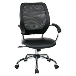 Scranton & Co Screen Back Managers Office Chair in Black