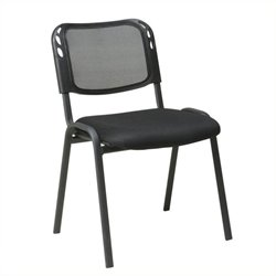Scranton & Co Armless Stacking Chair in Black (Set of 2)