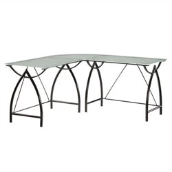 Scranton & Co L-Shaped Computer Desk in Black