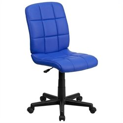Scranton & Co Faux Leather Mid-Back Office Chair in Blue