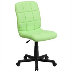 Scranton & Co Faux Leather Mid-Back Office Chair in Green
