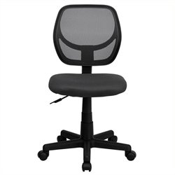 Scranton & Co Mid-Back Mesh Task and Office Chair in Gray