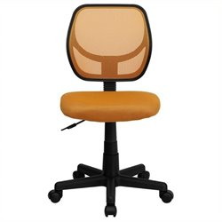 Scranton & Co Mid-Back Mesh Task and Office Chair in Orange