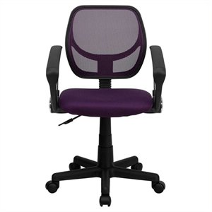 MER-1133 Mid-Back Mesh Task and Computer Office Chair in Purple