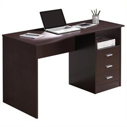 Scranton & Co Classy 3 Drawer Computer Desk in Wenge