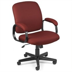 Scranton & Co Executive Low-back Task Office Chair in Wine