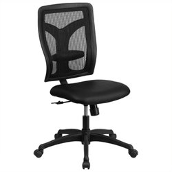 Scranton & Co High-Back Leather Office Chair in Black