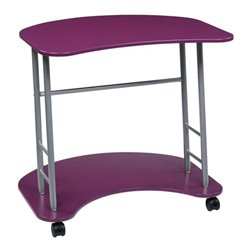 Scranton & Co Glass Top Computer Desk in Purple