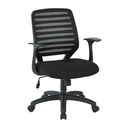Scranton & Co Screen Back Task Chair with T Arms in Black