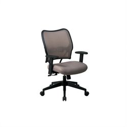 Scranton & Co Office Chair with Fabric Seat in Latte