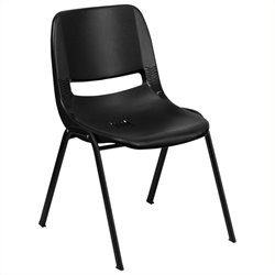 Scranton & Co Stacking Chair with Black Frame in Black