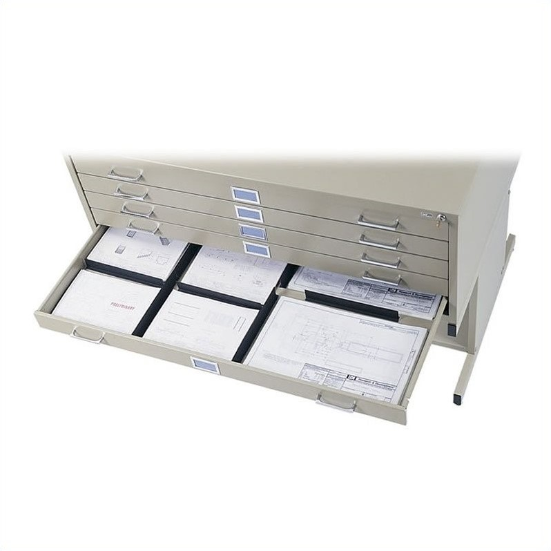 Scranton & Co 5 Drawer Flat Files Metal Cabinet for 30