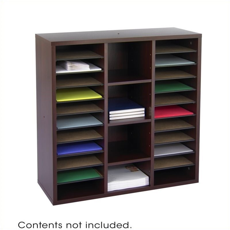 Scranton & Co Modular Storage Literature Organizer in Mahogany