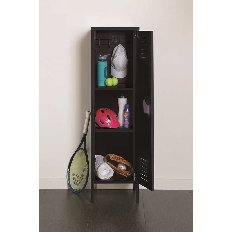 Scranton & Co Personal Locker Storage Cabinet in Black