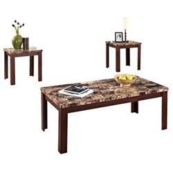 Hawthorne Collection 3 Piece Coffee Table Set in Cherry