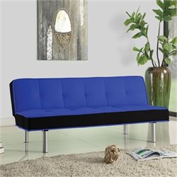 Hawthorne Collection Fabric Convertible Sofa in Blue and Black