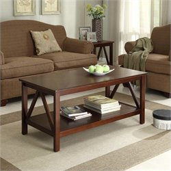 Hawthorne Collection Coffee Table in Antique Tobacco