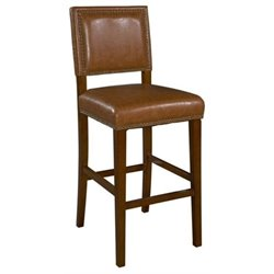Hawthorne Collection Faux Leather Bar Stool in Brown (K)