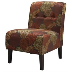Hawthorne Collection Harvest Fabric Tufted Accent Slipper Chair