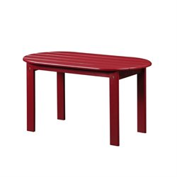 Hawthorne Collection Adirondack Patio Coffee Table in Red