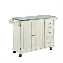 MER-1183 Liberty Kitchen Cart with Stainless Steel Top