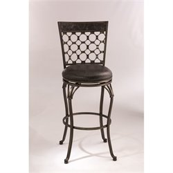 MER-1183 Faux Leather Bar Stool in Antique Pewter
