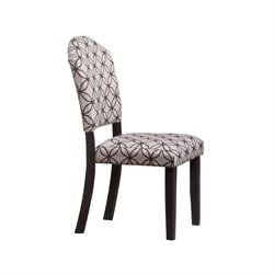 Hawthorne Collections Dining Chair in Distressed Black (Set of 2)