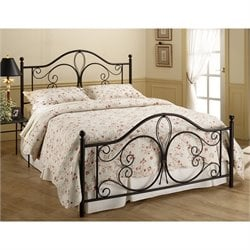 Hawthorne Collections Full Metal Bed in Antique Brown