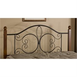 MER-1183 Poster Spindle Headboard in Textured Black Rails