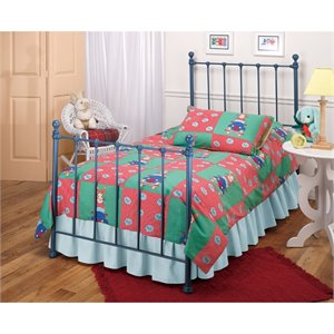 MER-1183 Molly Twin Poster Bed in Blue