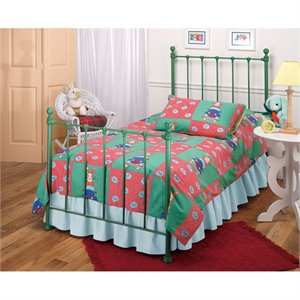 MER-1183 Molly Twin Poster Bed in Green
