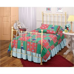 MER-1183 Molly Twin Poster Bed in Yellow