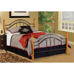 MER-1183 Winsloh Poster Bed in Black