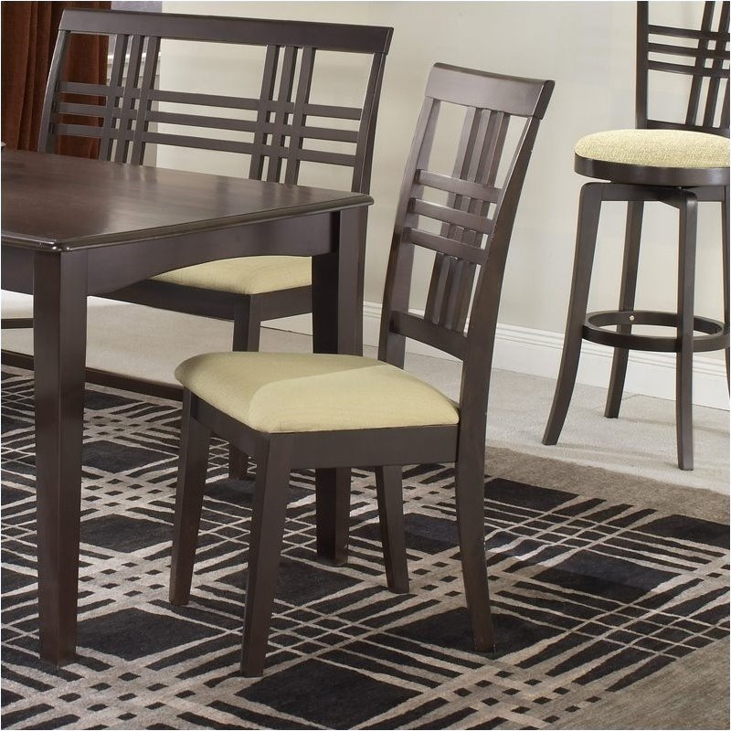 Hawthorne Collections Fabric Dining Chair In Espresso Set