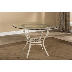 Hawthorne Collections Round Dining Table in Aged Ivory