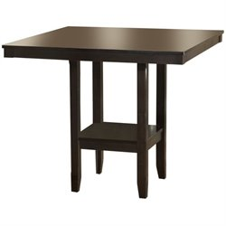 Hawthorne Collections Square Counter Height Dining Table in Espresso