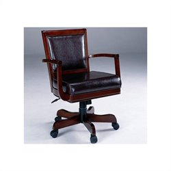 Hawthorne Collections Arm Chair with Casters in Rich Cherry