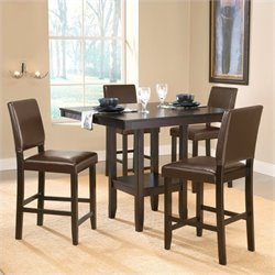 Hawthorne Collections 5 Piece Counter Height Dining Set in Espresso