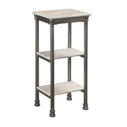 Hawthorne Collections 3 Tier Display Tower in Gray and Marble
