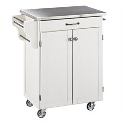 MER-1183 Kitchen Cart in White