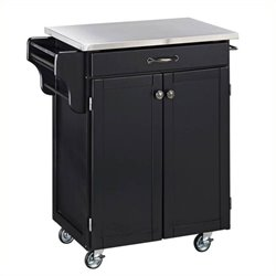 MER-1183 Kitchen Cart in Black