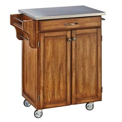 MER-1183 Kitchen Cart in Cottage Oak