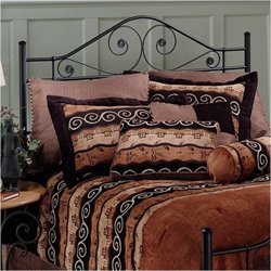 MER-1183 Hillsdale Harrison Spindle Headboard in Black