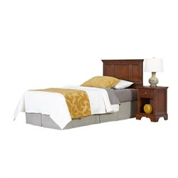 MER-1183 2 Piece Twin Panel Headboard Bedroom Set 2