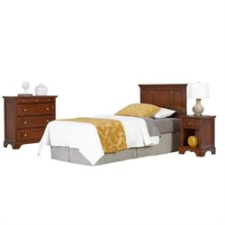 MER-1183 3 Piece Twin Panel Headboard Bedroom Set 3